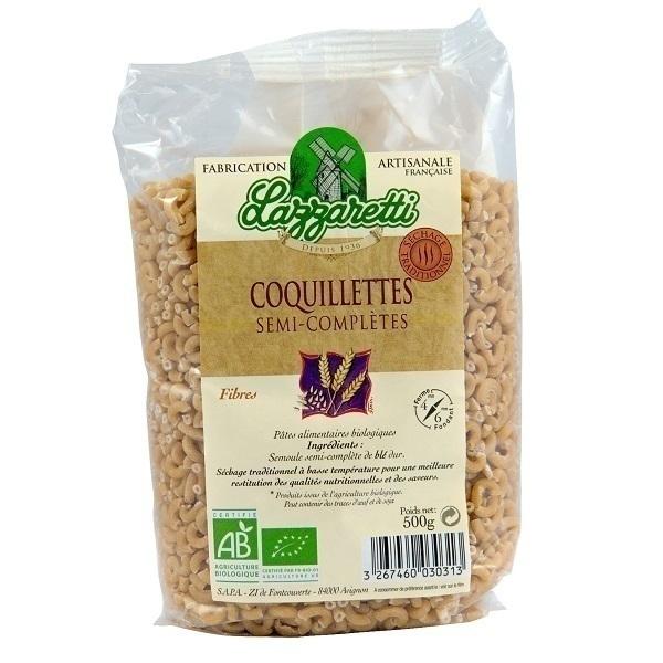 Lazzaretti - Coquillettes semi-complètes Bio 500g