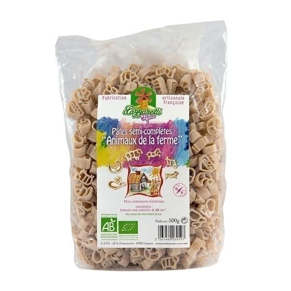 Lazzaretti - Pâtes semi-complètes Animaux de la ferme Bio 500g