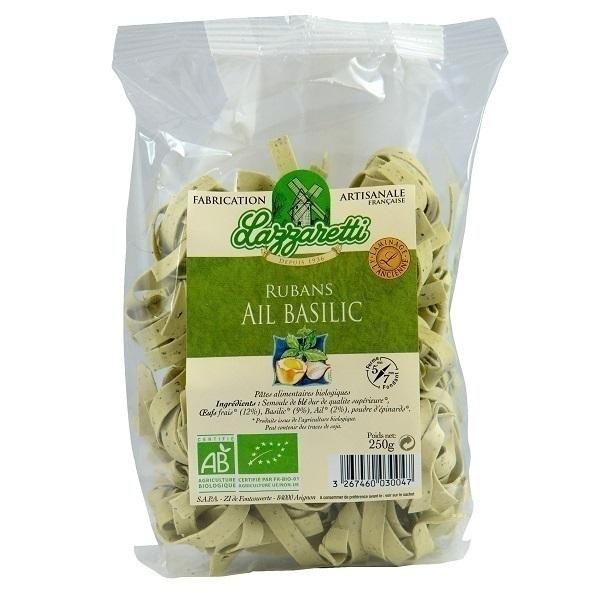 Lazzaretti - Rubans aux oeufs frais basilic et ail 250g
