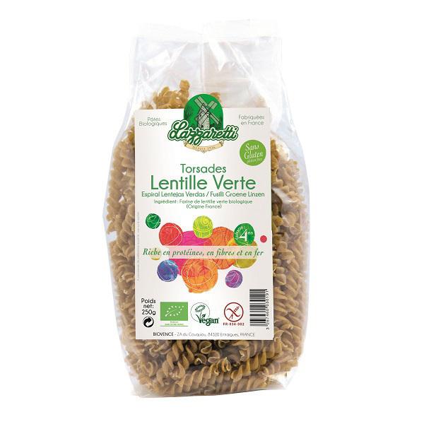 Lazzaretti - Torsades 100% aux lentilles vertes 250g