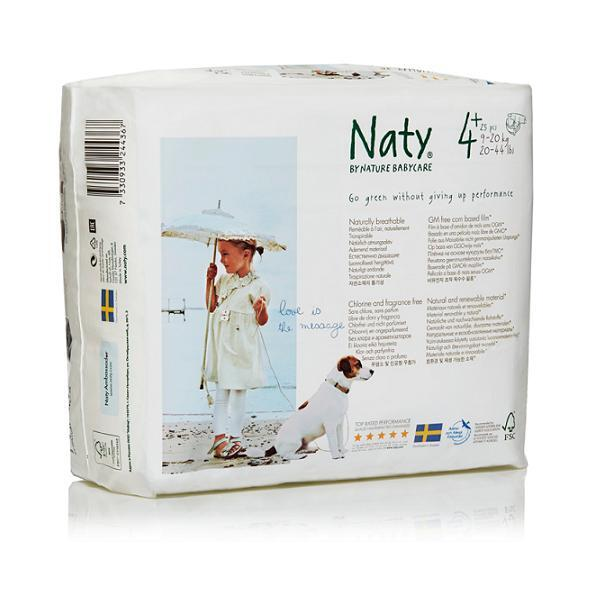 Naty by Nature Babycare - Couches Eco Maxi+ 9/20 kg, 25 couches
