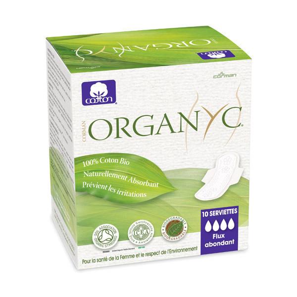 Organyc - Serviette utra fine super à ailettes x10