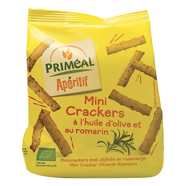 Priméal - Mini crackers à l'huile d'olive et au romarin 100g