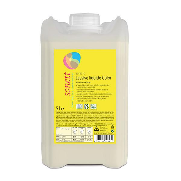 Sonett - Lessive liquide couleurs Menthe Citron 5L