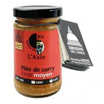 Autour du Riz - Pâte de curry rouge Moyen 100g