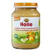 Holle - Petit pot courgette, potiron et pomme de terre 190g - Dès 4 m