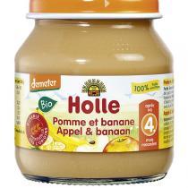 Holle - Petit pot pomme-banane - 125g