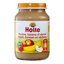 Holle - Petit pot pomme banane et abricot 190g - Dès 4 mois