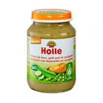 Holle - Petit pot pomme de terre petit pois et courgette 190g - Dès 6 m