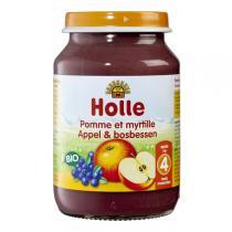 Holle - Petit pot pomme myrtille 190g - Dès 4 mois