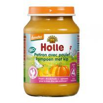Holle - Petit pot potiron et poulet 190g - Dès 4 mois