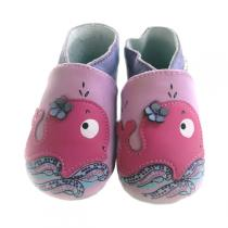 Lait et Miel - Whale Leather Indoor Baby Shoes 2-3y