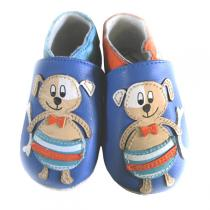 Lait et Miel - Beach Dog Leather Indoor Baby Shoes 0-24m