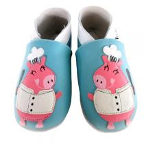 Lait et Miel - Chef Piggy Leather Indoor Baby Shoes 0-24m