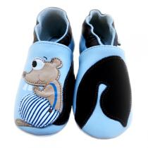 Lait et Miel - Squirrel Leather Indoor Baby Shoes 2-3y