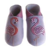Lait et Miel - Flamingo Leather Indoor Baby Shoes 2-3y