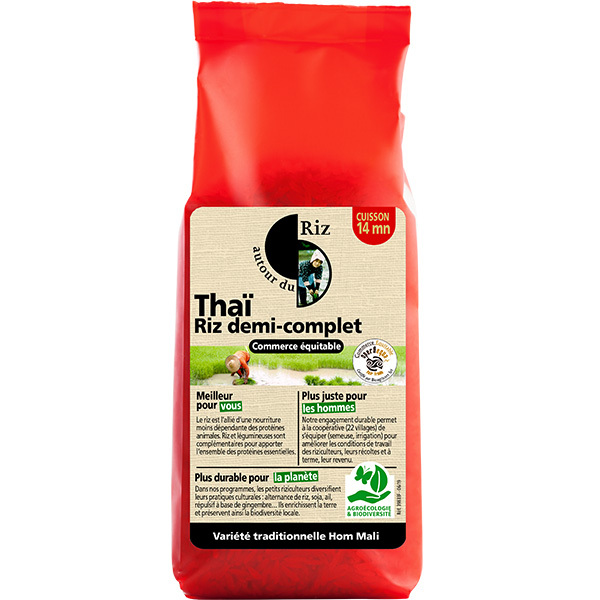 Autour du Riz - Riz thaï 1/2 complet équitable 500g