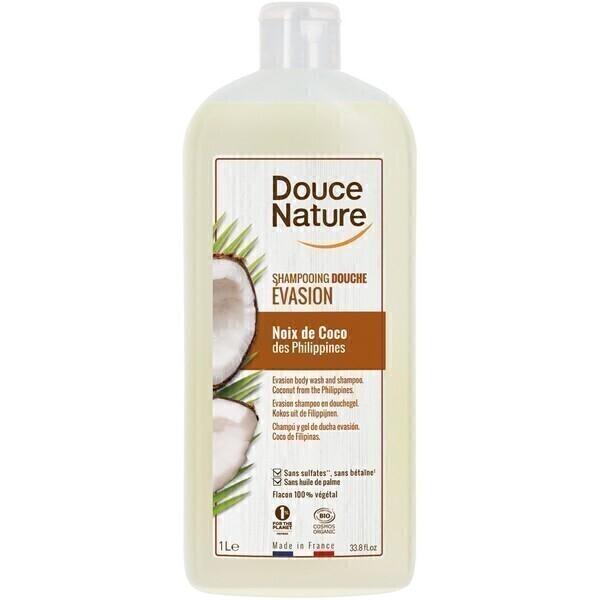 Douce Nature - Shampooing douche Evasion noix de coco 1L