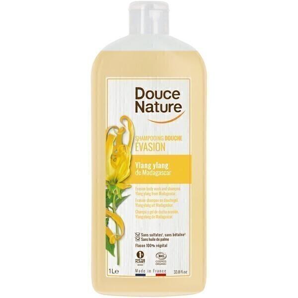Douce Nature - Shampooing douche Evasion ylang ylang 1L