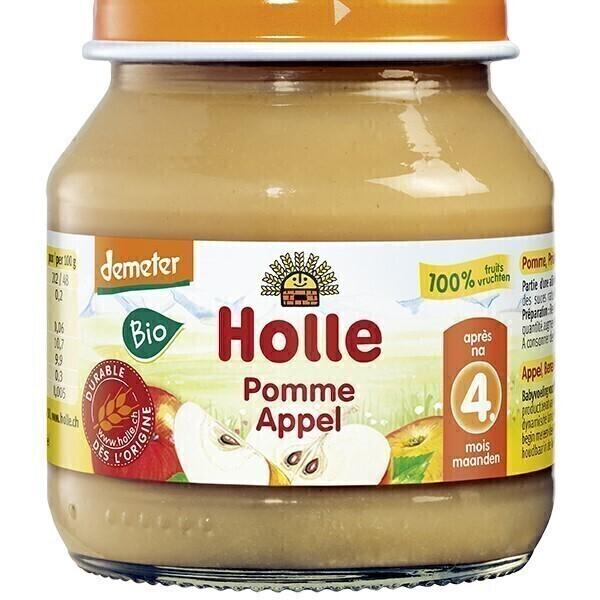 Holle - Petit pot 100% pomme 4 mois 125g