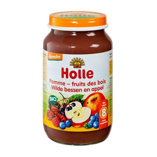 Holle - Petit pot pomme fruits des bois 220g - Dès 8 mois