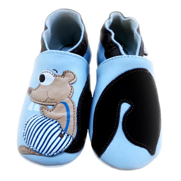 Lait et Miel - Babyschuhe aus Leder - Eichhörnchen - 0-2