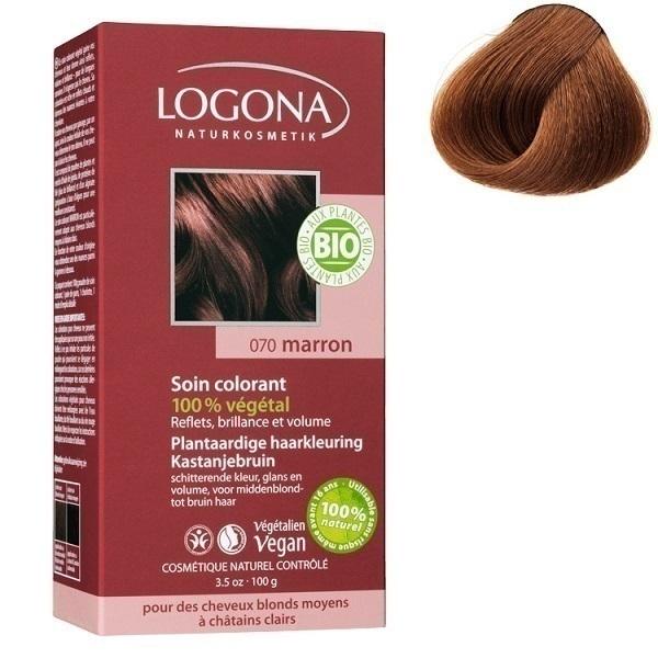 Logona - Soin colorant 100% Marron 100gr