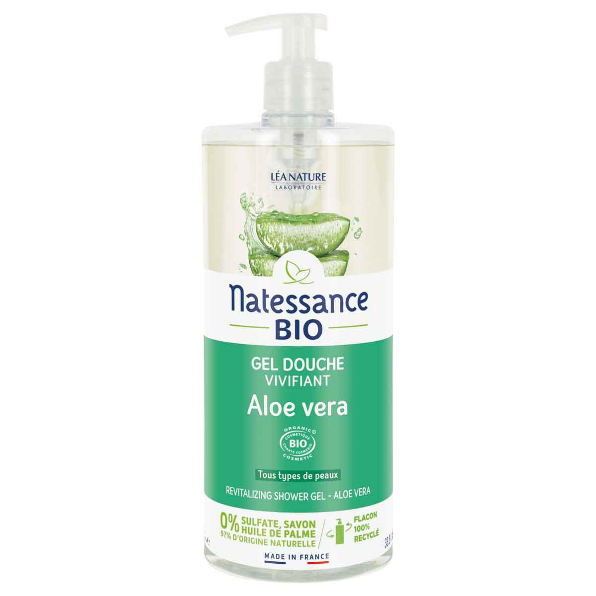 Natessance - Gel douche Aloe Véra sans sulfate 1L