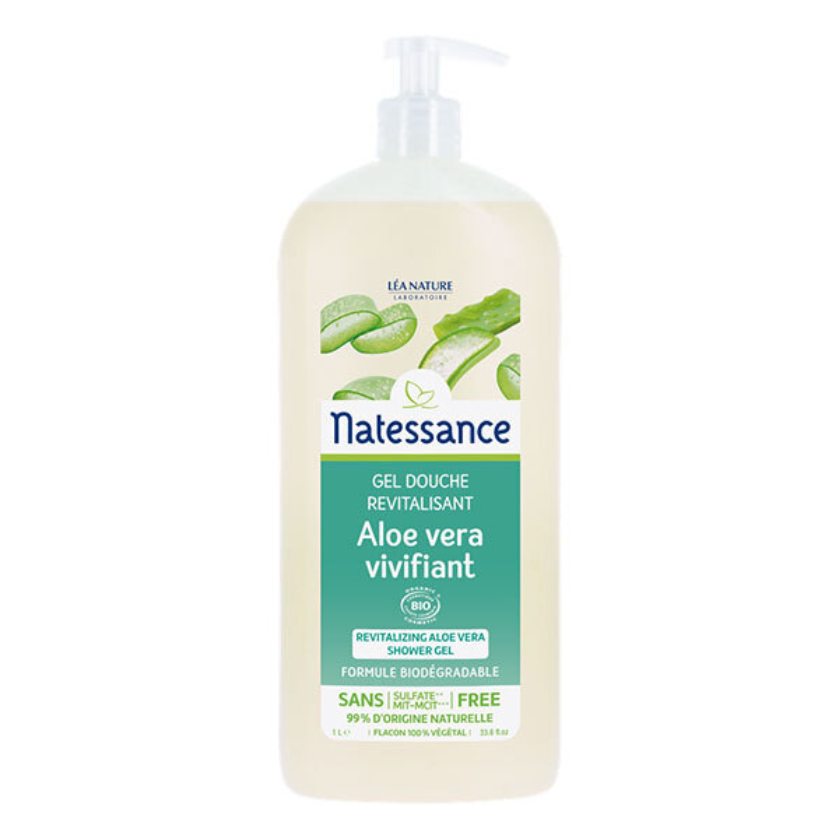 Natessance - Gel doccia Aloe Vera senza solfato