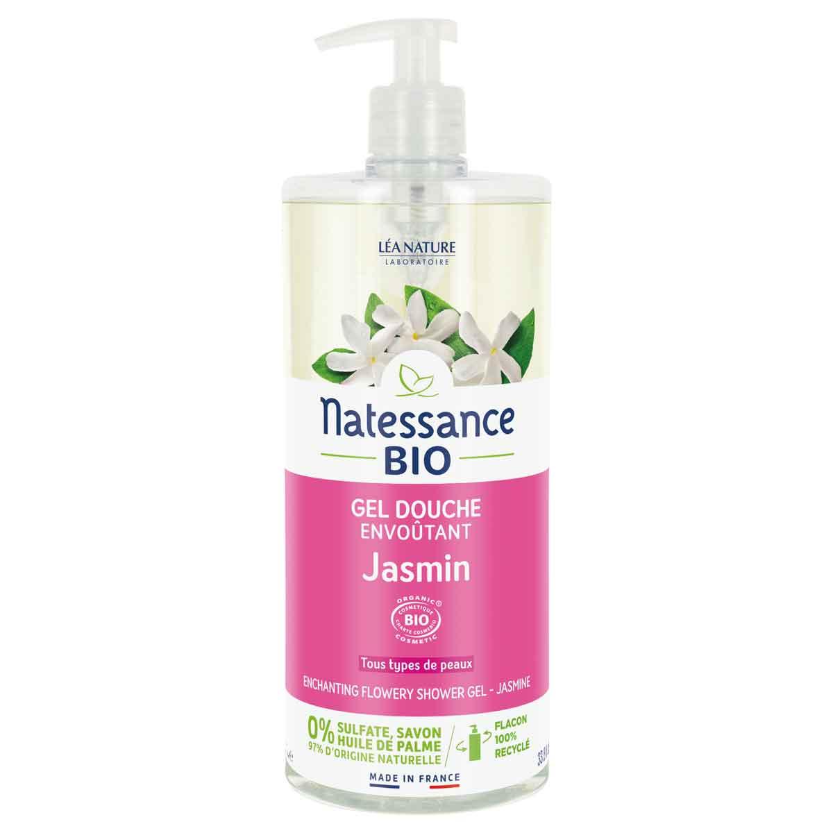 Natessance - Gel douche jasmin floral sans sulfate 1L