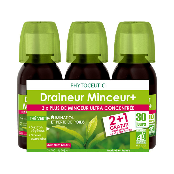 lot 2 1 offert draineur minceur bio 200ml phytoceutic acheter sur. Black Bedroom Furniture Sets. Home Design Ideas