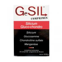 Aquasilice - GeSil Comprimés Silicium Gluco Chondro - boîte de 30 comrpimé