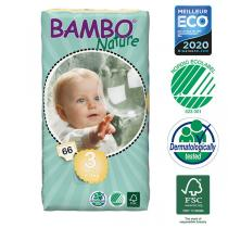 Bambo Nature - 66 couches jetables t3 midi 5-9kg