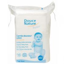 Douce Nature - Carrés de coton maxi baby Douce Nature, 60 unités
