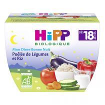 HiPP - Poêlée de légumes et riz dès 18 mois 250g