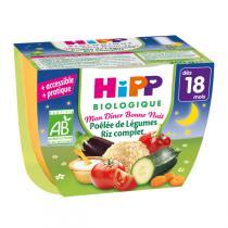 HiPP - Bol Poêlée de Légumes Riz complet 18 mois 250 g