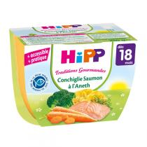 Hipp - Conchiglie Saumon à l'Aneth 250 g