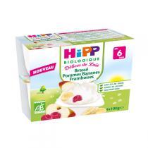 HiPP - Brassé Pommes Bananes Framboises 4 x 100 g