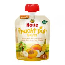 Holle - Gourde Banane Pomme Mangue Abricot 90g