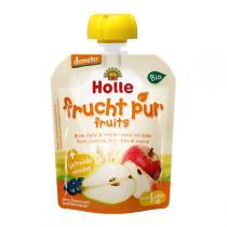 Holle - Gourde Poire Pomme Myrtille Avoine 90g