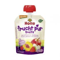 Holle - Gourde Pomme Pêche Fruits des bois 90g