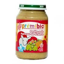 Premibio - Petit pot bébé agneau/petits pois, 200g, dès 6 mois