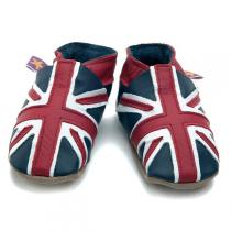 Starchild - Union Jack Leather Baby Shoes