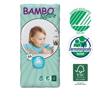 Bambo Nature - 54 couches jetables T5 Junior 12-22 kg