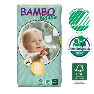 Bambo Nature - 66 couches jetables T3 Midi 5-9 kg
