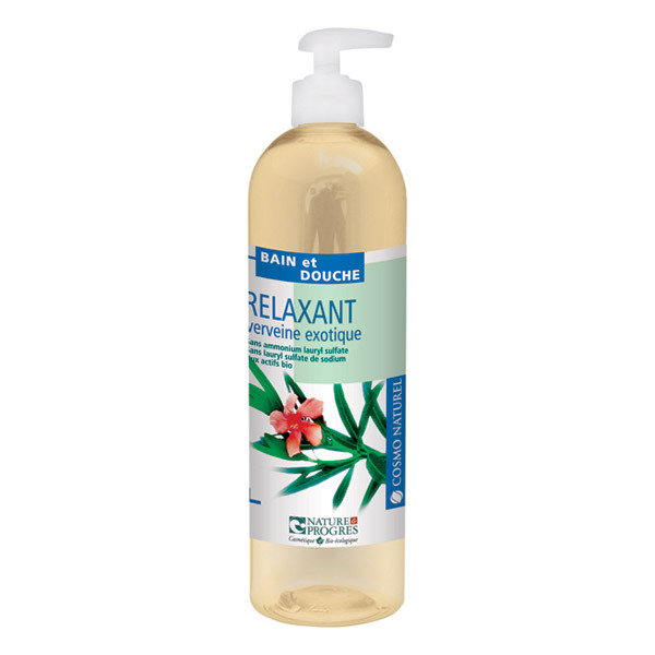 Gel bain douche relaxant verveine 500 ml cosmo naturel for Bain relaxant maison