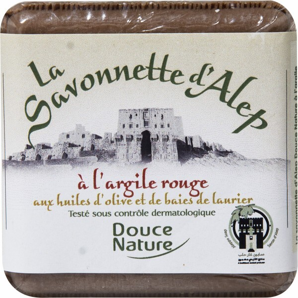Douce Nature - Aleppo-Seife mit rotem Ton 100 g