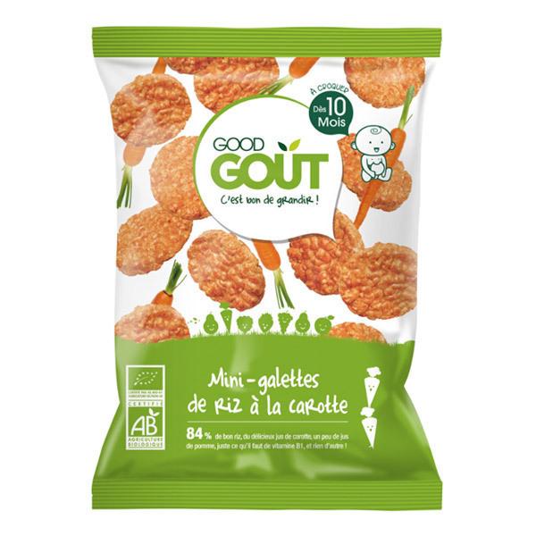 Good Gout - Mini-galettes de riz à la carotte, dès 10 mois