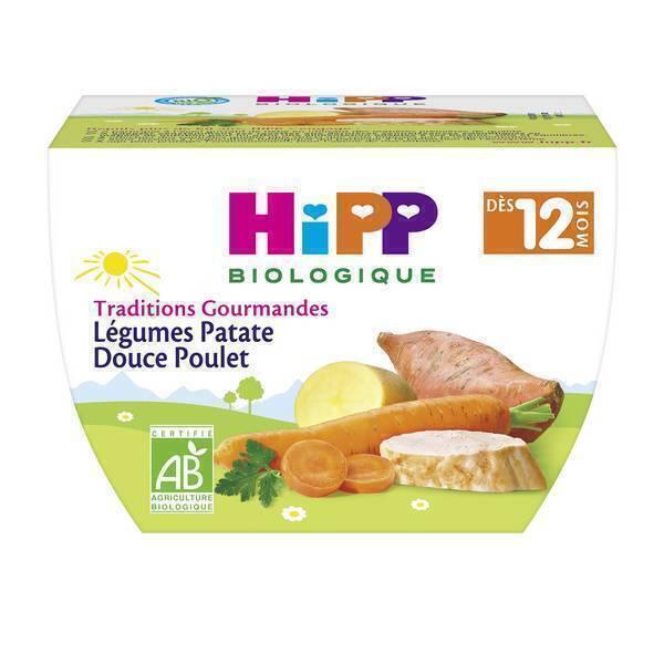 HiPP - Bol légumes patate douce poulet 12 mois 220g