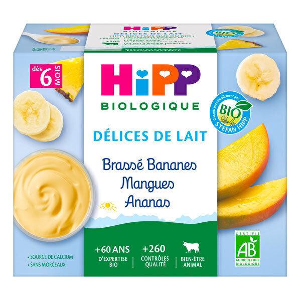HiPP - Brassé bananes mangues ananas dès 6 mois - 4x100g
